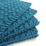Crocheted Coaster Set of Four Yarn Place Mat Table protector Made to order