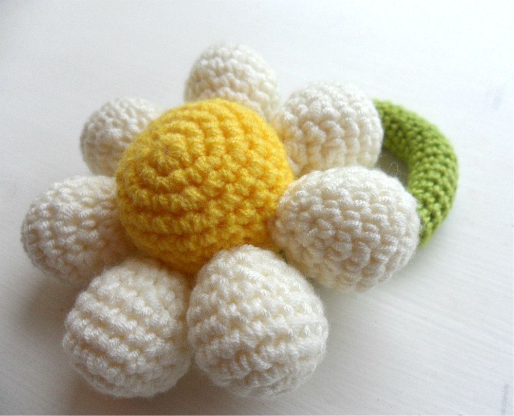 Crochet flower girl baby rattle bouquet choose your colour made to crochet flower girl baby rattle bouquet choose your colour made to order izmirmasajfo
